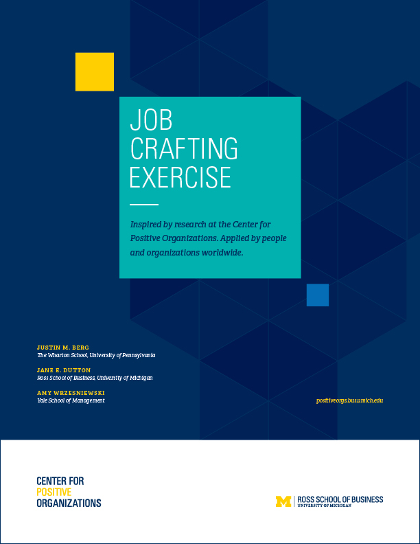 crafting a job 2018-6-18 individuals who engage in job crafting by altering their jobs to better suit their skills and interests increase their job satisfaction and are more committed to.