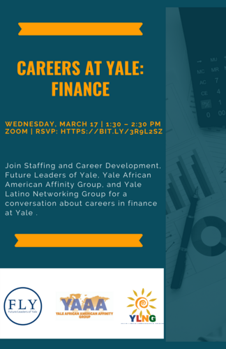 Careers at Yale: Finance Flyer
