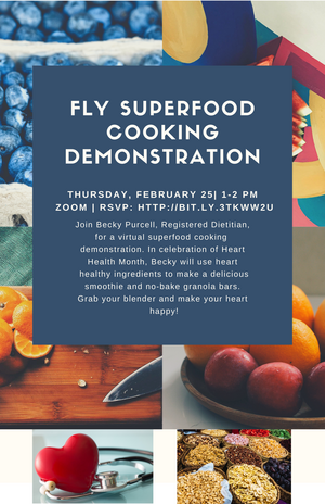 FLY Superfood Cooking Demonstration Flyer