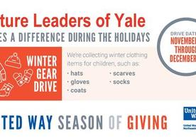 United Way Season of Giving Winter Gear Drive Flyer